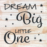 Dream Big Little One  (14x14) - Reclaimed Wood Wall Art