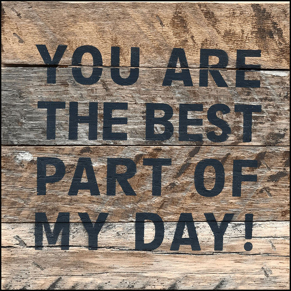 You are the best part of my day (6x6) Reclaimed Wood Wall Art