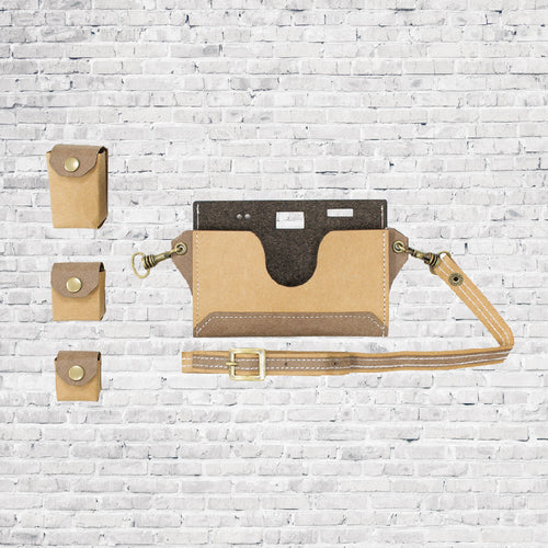 Paper Camera Bag - Brown
