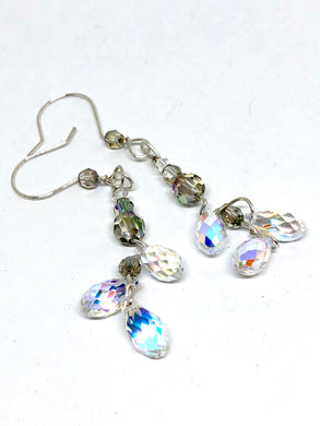 Swarovski Crystal Clear Dangle Earrings