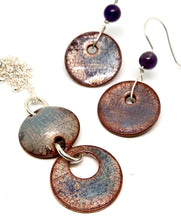 Frosted Blue/Purple Penny Necklace