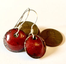 Garnet Penny Earrings- January Birthstone