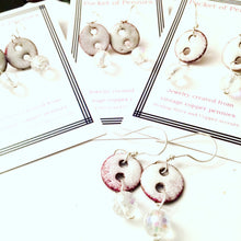 Winter Wonderland Penny Earrings with Crystal