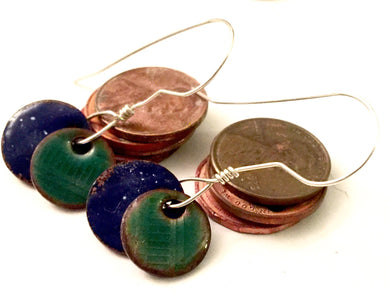 Swinging Penny Punch Earrings