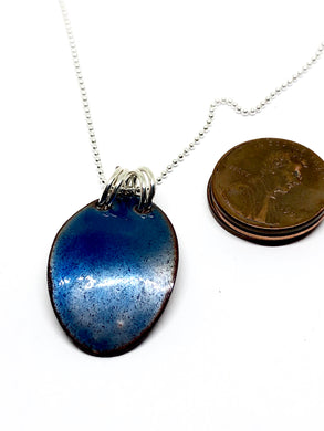Mod Deep Space Blue Penny Necklace