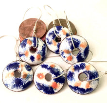 Blue and Orange Penny Earrings