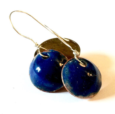 Sapphire Penny Earrings -September Birthstone