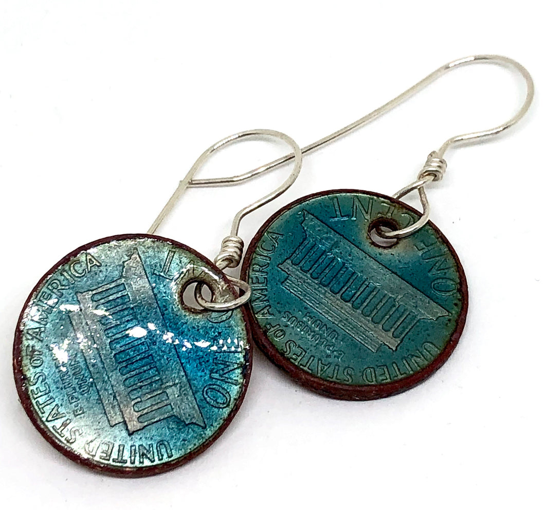 Turquoise Penny Earrings