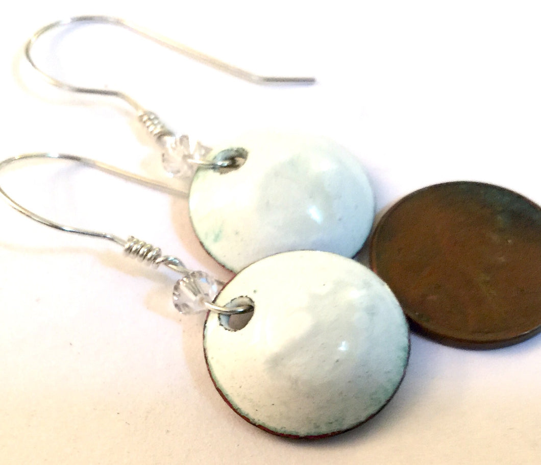 Diamond Penny Earrings -April Birthstone