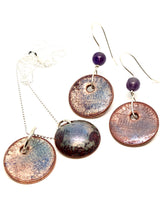 Frosted Purple Penny Necklace