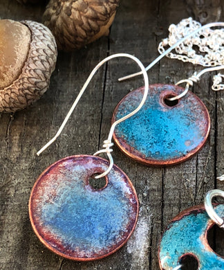 Autumn Turquoise Penny Earrings