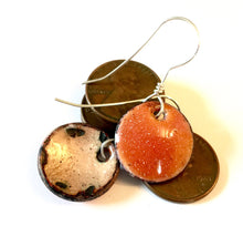 Citrine Penny Earrings -November Birthstone