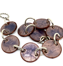 Transparent Purple Penny Bracelet