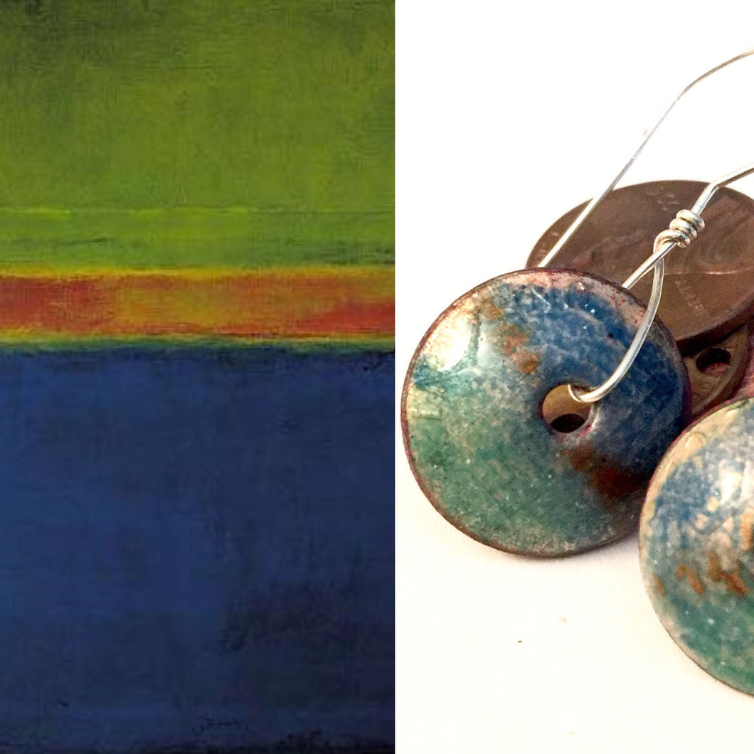 Famous Artists Rothko Penny Earrings