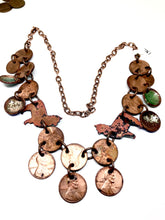 Llama Love Penny Enamel Necklace on Copper Chain