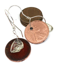 Candied Apple Penny Earrings