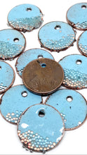 Sky Blue Penny Earrings with Microbeads