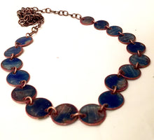 Deep Space Penny Enamel Necklace with Copper Accents