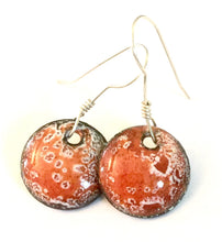 Solar Flare Enamel Penny Earrings