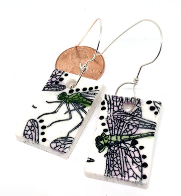 Porcelain Dragonfly Earrings