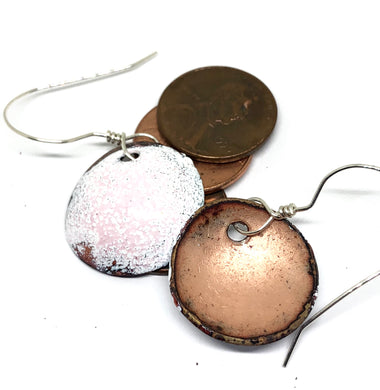 Mod Blushing Cotton Penny Earrings