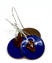 Windfall Blue with Amber Detail Earrings