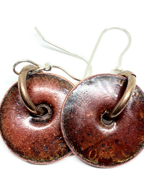 Ginger Spice Penny Earrings