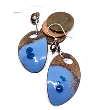 Mod Rustic Blue Galaxy Penny Earrings