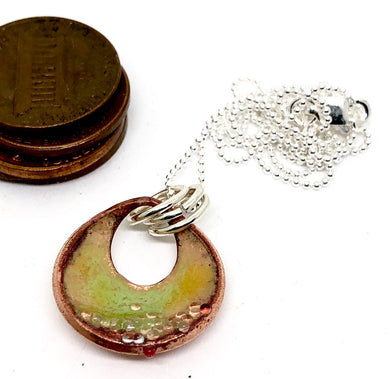 Breezy Green Copper Penny Necklace