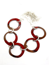 Red Hammered & Punched Penny Necklace
