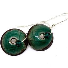 Emerald Green Penny Earrings