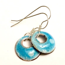 Morning Dew Enamel Penny Earrings