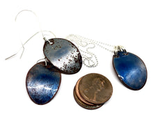 Mod Deep Space Blue Penny Earrings