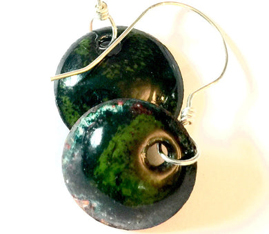 Emerald Penny Earrings -May Birthstone