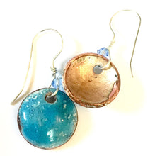 Blue Topaz Penny Earrings -December Birthstone