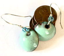 Aquamarine Penny Earrings -March Birthstone