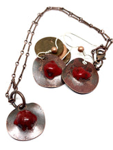 Classic Red Bloom Penny Earrings