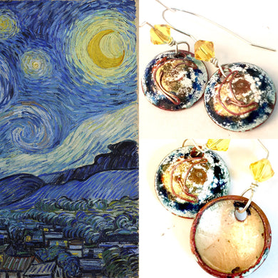 Famous Artists Van Gogh Penny Earrings