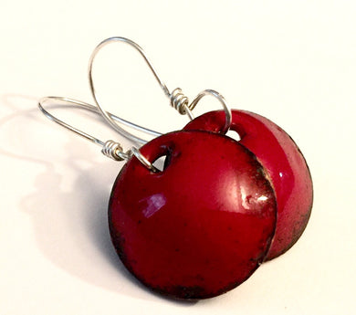 Ruby Penny Earrings -July Birthstone