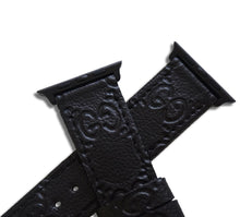 Gucci GG Monogram Style Designer Apple Watch Band / Straps Black