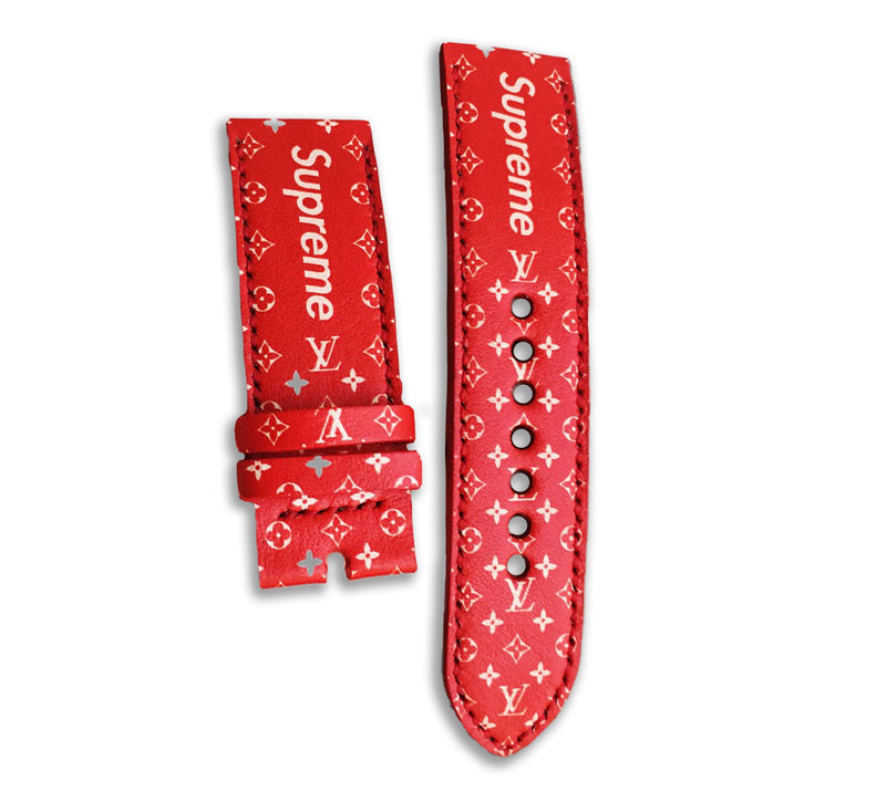 RED SUPREME LV PATTERN SOCK