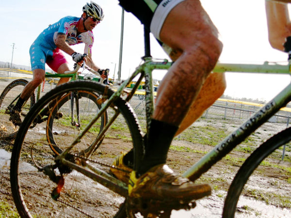 Expect to get muddy in cyclocross events.