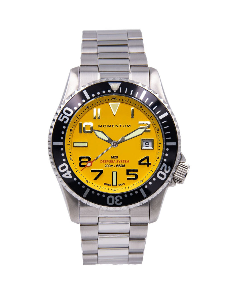 Momentum Watches M20 DSS Diver Yellow Dial
