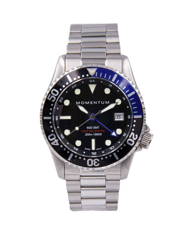 Momentum Watches M20 GMT Diver Batman