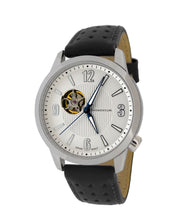 Morioka Automatic Leather | Automatic Dress Watch | Open Heart Dial | White Dial With Black Leather Band