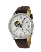 Morioka Automatic Leather | Automatic Dress Watch | Open Heart Dial | White Dial With Brown Leather Band