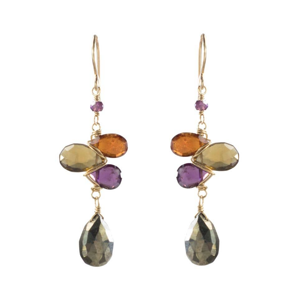 Tear drop earrings- Passion Colorway