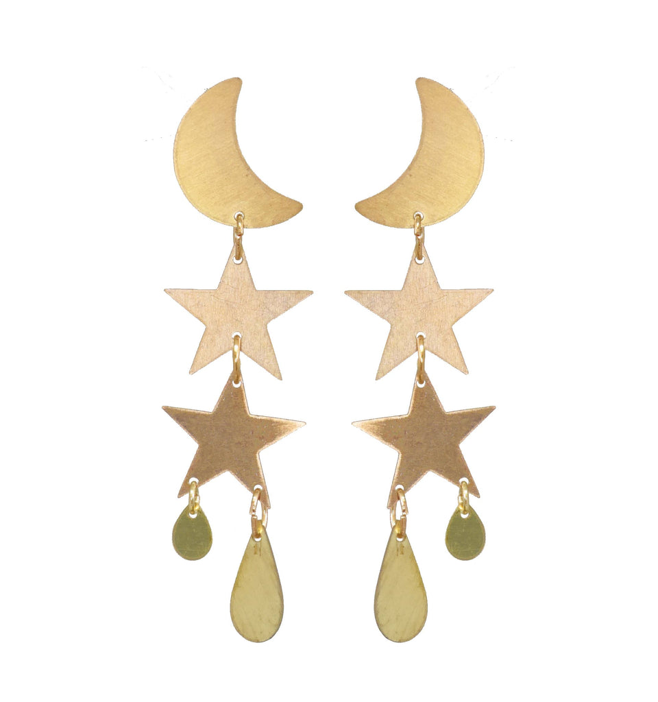 Little Gold Twilight Earrings