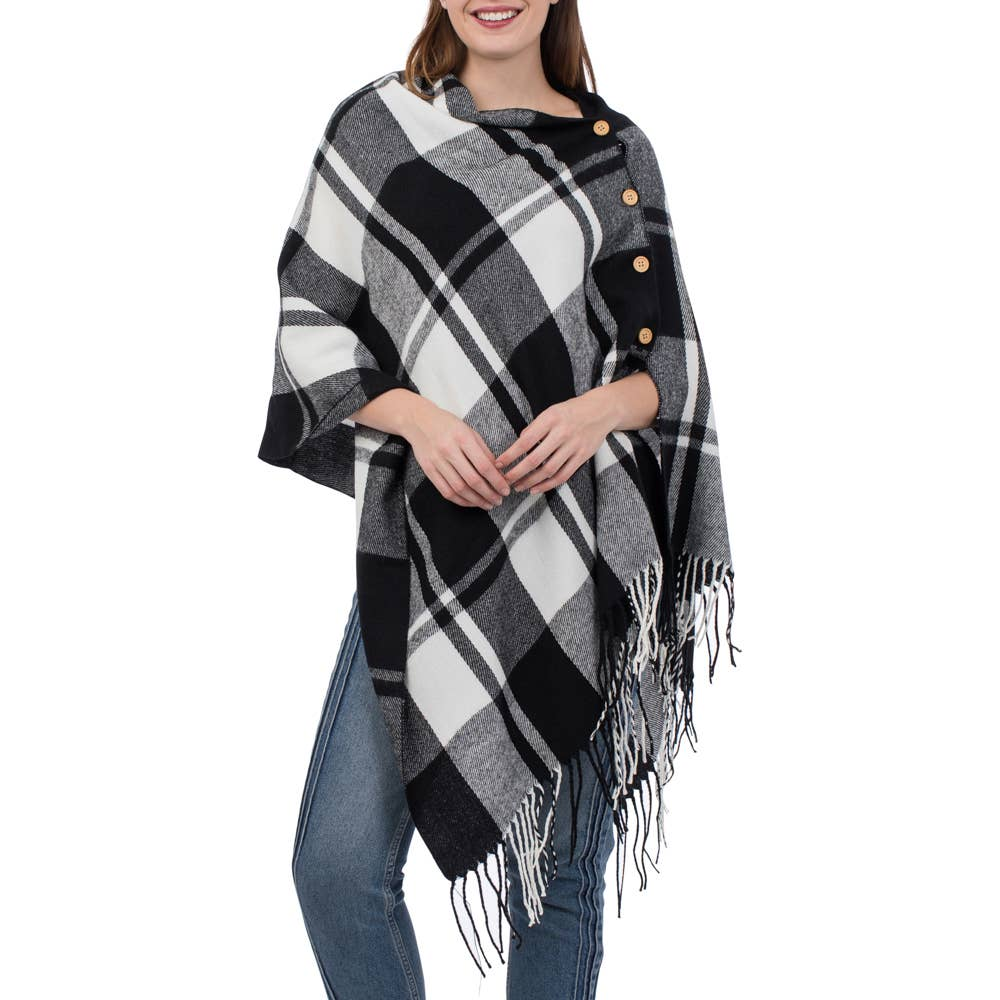 3-in-1 Plaid Wrap