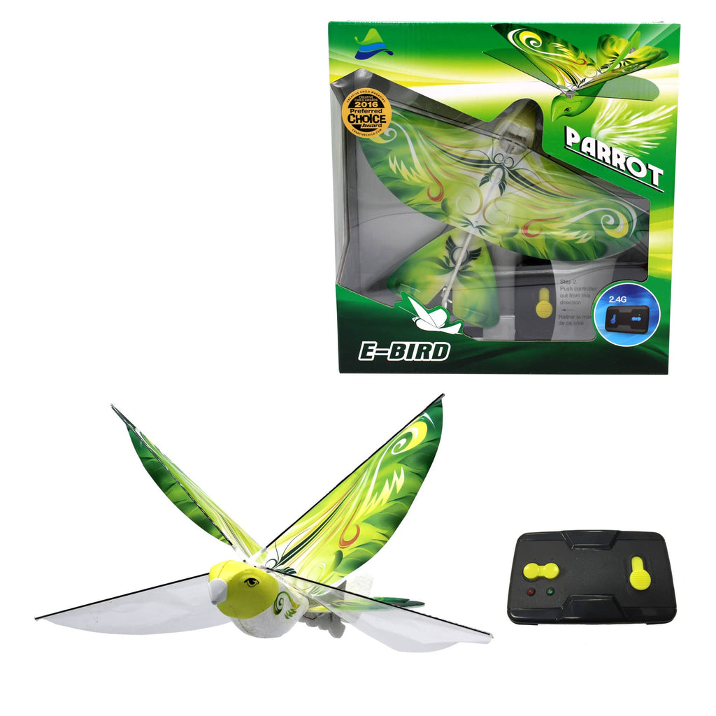 eBird Green Parrot - 2.4 GHz RC Flap Wings Flying Bird Drone
